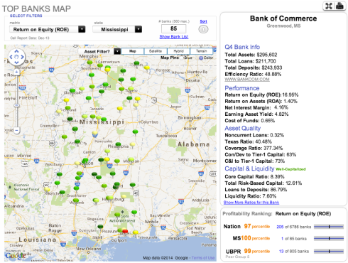 Mississippi Community Bank Map